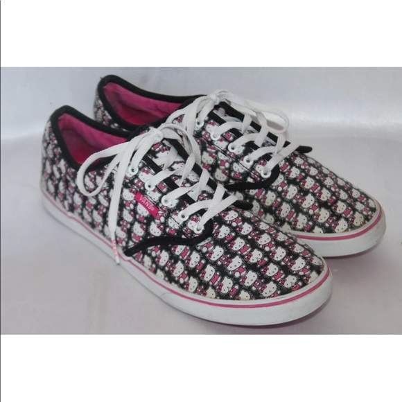 vans shoes hello kitty graphic canvas sneakers poshmark